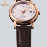 Edelstahlwasserdichte Wristband-Form-Quarz-Mann-Leder-Uhr 72085