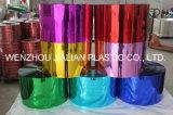 Твердые металлизированные пленка PVC/лист цвета обеих сторон пурпурового для украшений гирлянды