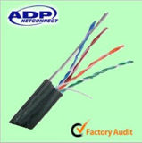 Self-Support 24AWG 8 число ядер Self-Support FTP Cat5e медных ОАС Ccag кабель Ethernet с черной металлургии