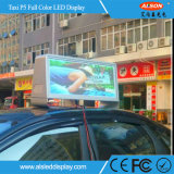 Taxi Top P5 en el exterior impermeable color Pantalla LED de señal de movimiento
