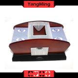карточки покера от 1 до 2 палуб ботинок Ym-CS06 Shuffler деревянной автоматический и торговца играя карточки пользы двойников