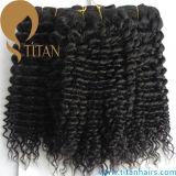 Tessuto brasiliano naturale riccio dei capelli umani del Virgin