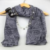 De Bijkomende Grijze Manier die van de manier de Sjaal van de Polyester van 100% voor Meisjes afdrukken