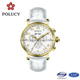 New Design 2017 Gold Classic Quartz Watch para homens