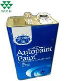 4L F vide de la peinture de Style des boîtes de conserve de l'huile rectangulaire Tin Tin chimique de conteneur peut avec couvercle en plastique ou métal et de pont de la poignée