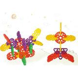 Kind-geometrisches Schneeflocke-Baustein-Spielzeug