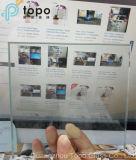 vidro desobstruído de 1.9mm-25mm, vidro do edifício do flutuador do espaço livre do indicador (W-TP)