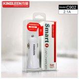Kingleen Modèle C902 Chargeur double batterie USB portable pour téléphone 5V2.1A Combo Produit par The Original Factory