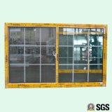 Ventana de desplazamiento de aluminio del bloqueo crescent revestido del polvo de la buena calidad con la red K01048
