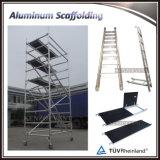 階段が付いているアルミニウム移動式使用された構築の足場