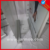 Banco di mostra di alluminio con la doppia bandiera laterale di stampa
