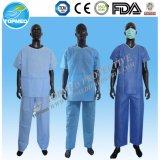 Больница одежду пациента столовой/одноразовые изоляции платье хирургия платье