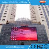 Pantalla video fija de la pared P16 de la INMERSIÓN al aire libre LED para la cartelera