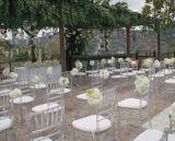 Plástico cristal transparente de policarbonato Cadeira de resina para o banquete de núpcias