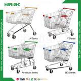 Gran capacidad de recubrimiento negro Carrito de compras de supermercado Compras