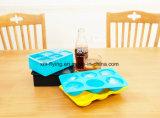 Food Grade 6 Bandeja caries Plaza del cubo de hielo de silicona para menaje de cocina