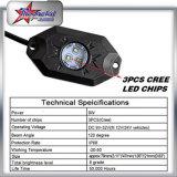 Mini-LED-Röhrenblitz-Felsen-Licht, einzelne der Farben-LED Köpfe Felsen-des Licht-9W LED, wasserdichtes Felsen-Licht IP-68