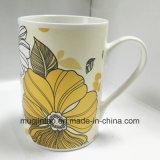 Tazza piena di ceramica di Cina di osso di marchio di stampa della tazza di caffè del padellame