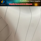 Línea negra, tierra blanca / espiga de poliéster hombres Suit traje de tela (s80.91)