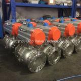 Aço inoxidável pneumático de Dupla Ação da Válvula Esférica flangeada com coxim de montagem