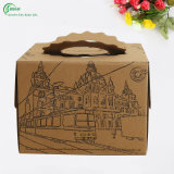 Grandes cajas de regalo de papel marrón regalo cake cajas de embalaje (KG-PX054)