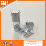 Fábrica directa de plata mate Airless loción botellas de cosméticos
