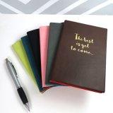Cuaderno de cuero de la PU del hilo de coser del papel A6