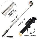 Bâton de câble télescopique universel de Selfie avec la bride rotative et extensible