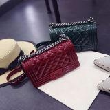 최신 판매 패션 디자이너 여자 핸드백 고품질 PU 부대 사슬 어깨에 매는 가방에는 2 크기 Sy8268가 있다