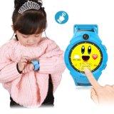 カメラGPSの位置のタッチ画面が付いている子供のスマートな腕時計は反失われて防水する