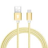 可逆コネクターが付いている特別に長い編みこみのタイプ6.6 FT (2M)のC USBデータ料金ケーブル