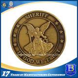 Изготовленный на заказ покрынная золотом монетка металла для промотирования (Ele-C104)