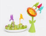 2016new! 花の鳥デザイン台所のためのプラスチックFork&のフルーツのフォーク
