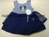 Neues Kleid 100% der Mädchen-Baby-Baumwolle2017