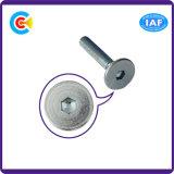 Carro redondo del acero de carbón/completamente de la cabeza hexagonal galvanizado M8/tornillo cuadrado del cuello