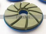 Roda de polir com borda de resina de diamante com caracol para polir pedra