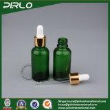 5ml 10ml 15ml 20ml 30ml 50ml 100ml Botella del cuentagotas del aceite esencial del vidrio verde con la tapa del gotero del metal
