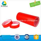 Высокая температура двухсторонней клейкой лентой красного цвета из полиэфирного волокна (6965HG)