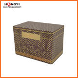Perfume rojo MDF caja de regalo de papel de impresión caja de regalo