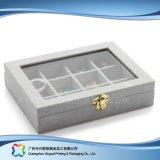 Caja de embalaje de madera/del papel de lujo de la visualización para el regalo de la joyería del reloj (xc-hbj-004)