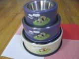 Alimentador de animal de estimação de aço inoxidável Tigela de cachorro / arco de animal com prateleira