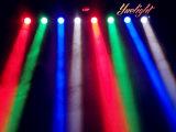 광저우 최신 디스코 빛 8PCS 풀 컬러 RGBW LED 광속 세륨 RoHS를 가진 이동하는 맨 위 광속 빛