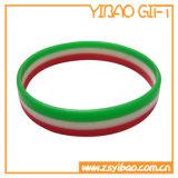 Fördernder konvexer SilikonWristband mit kundenspezifischem Firmenzeichen (YB-SW-06)