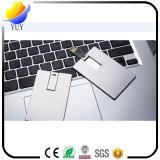 Подарок изготовленный на заказ привода вспышки USB кредитной карточки металла печатание выдвиженческий
