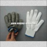 Doble capa de malla metálica resistencia al corte Guante Guante -El trabajo (2353)