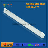 150lm/W 4FT 1200mm 18W Nano Plastic LEIDEN Neonlicht met Goedgekeurd Ce RoHS