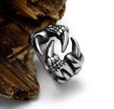 型の銀製のドラゴンの足の男性のリングのゴシック様式パンクのステンレス鋼