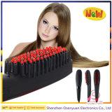 Plancha de pelo de cepillo 2 en 1 Iónico con pantalla LCD