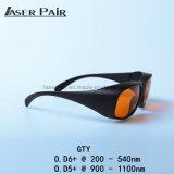 Óculos de Segurança de laser/Óculos Gty 200-532nm&900-1700nm para ND YAG máquinas de remoção de tatuagens (532 &1064 nm)