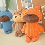 El estilo del oso acaricia el juguete del perro de juguete de Queaky